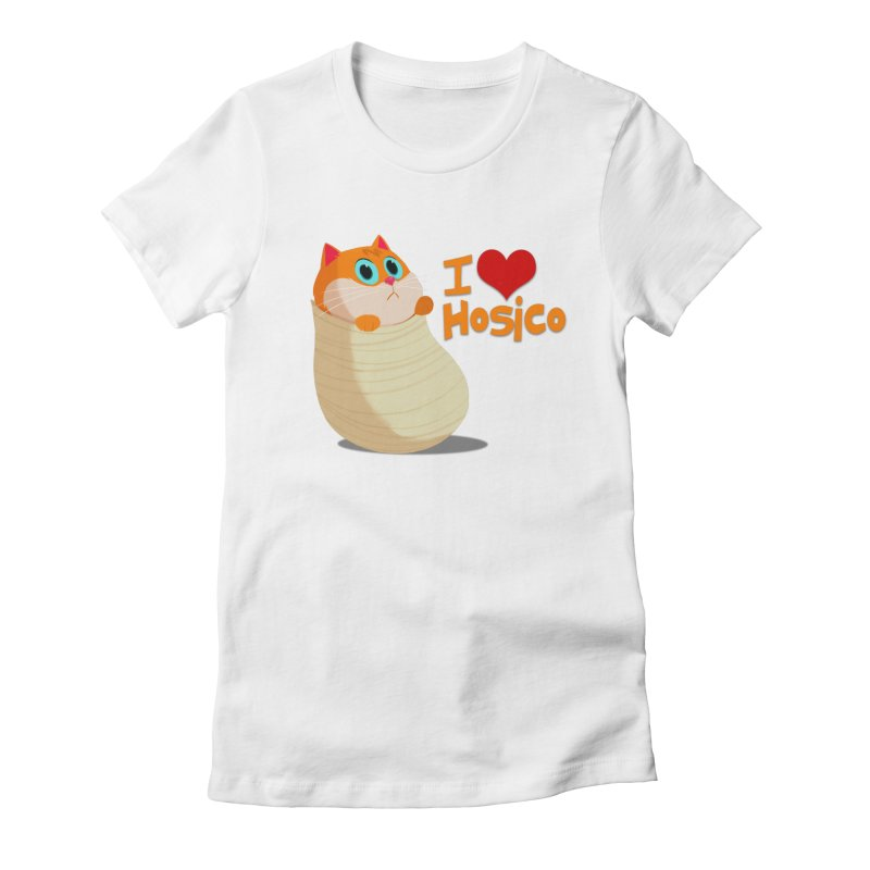 I Love Hosico Women's Fitted T-Shirt by Hosico's Shop