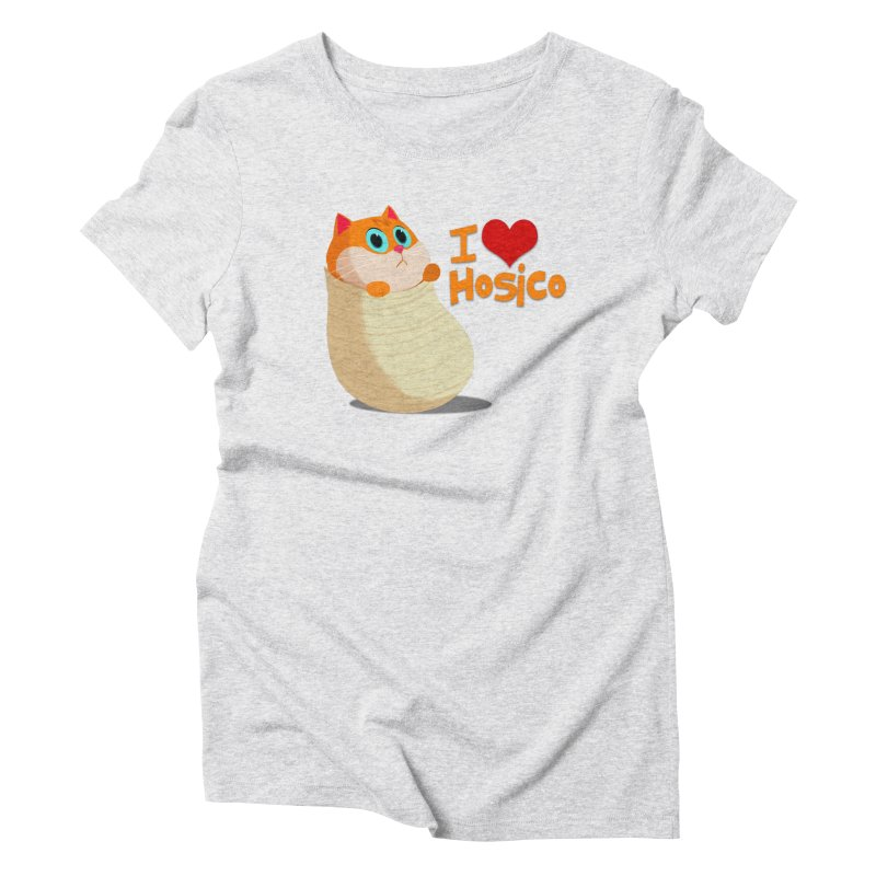 I Love Hosico Women's Triblend T-Shirt by Hosico's Shop