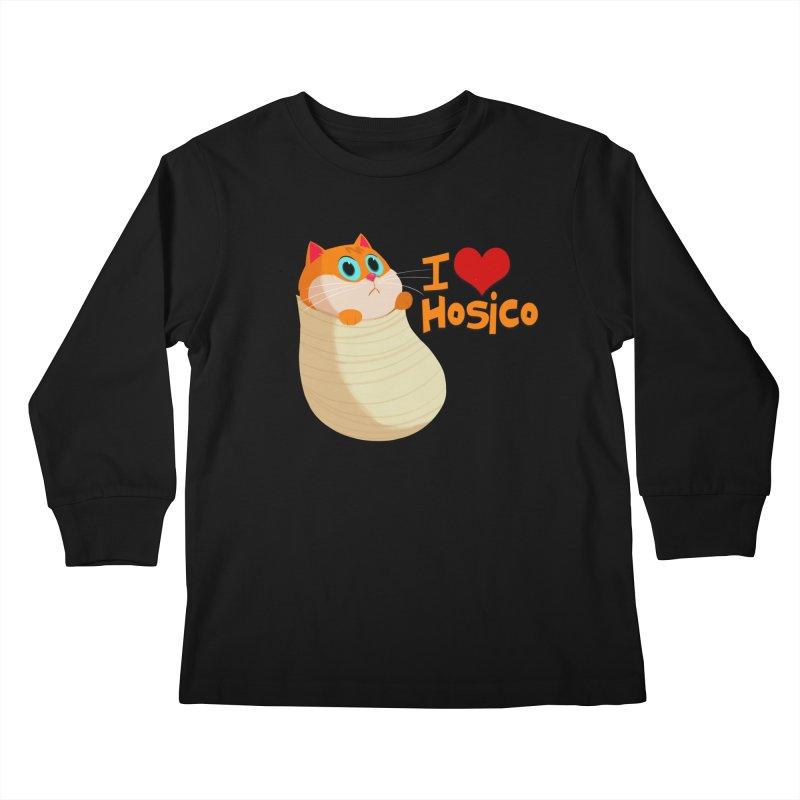 I Love Hosico Kids Longsleeve T-Shirt by Hosico's Shop
