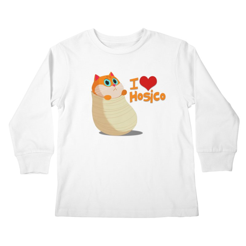 I Love Hosico Kids Longsleeve T-Shirt by Hosico's Shop
