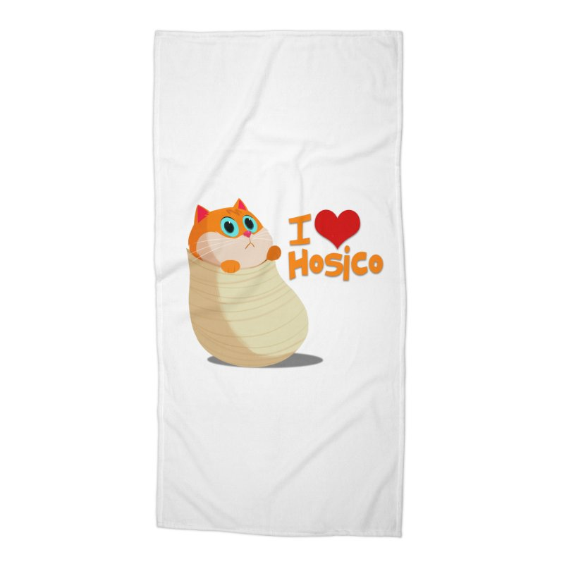 I Love Hosico Accessories Beach Towel by Hosico's Shop