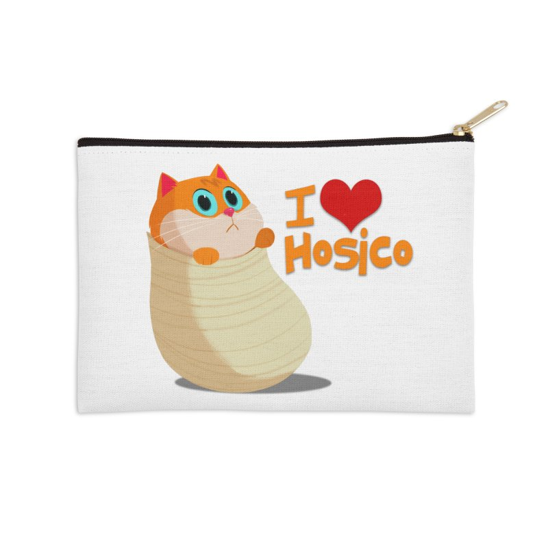 I Love Hosico Accessories Zip Pouch by Hosico's Shop