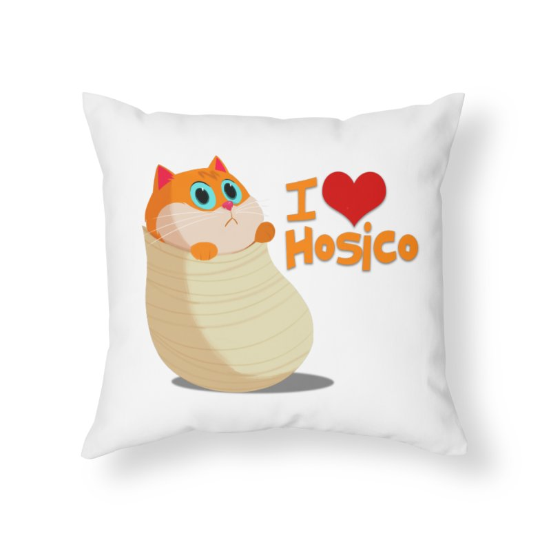 I Love Hosico Home Throw Pillow by Hosico's Shop
