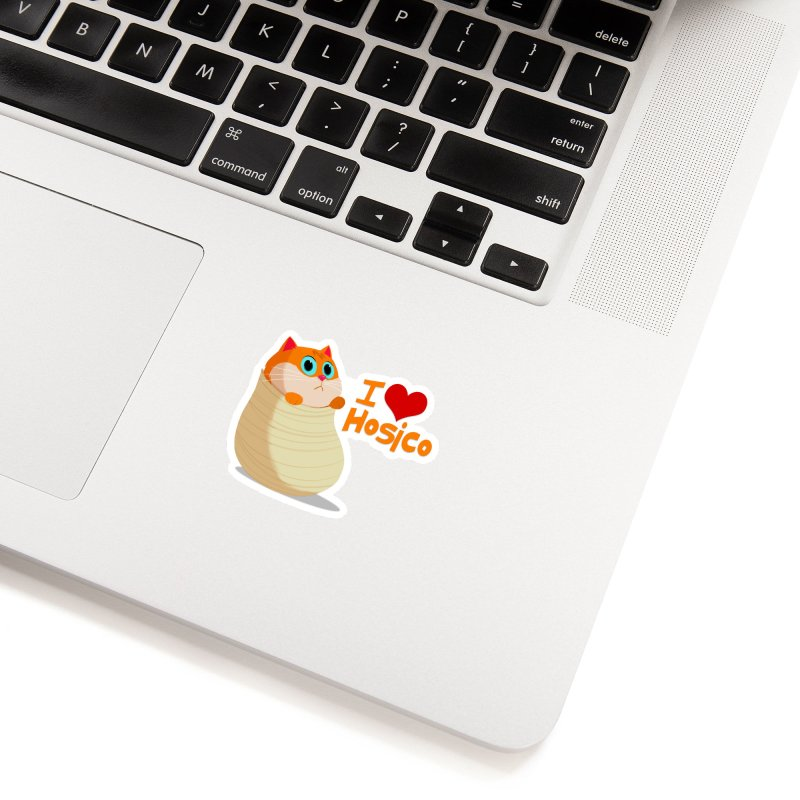 I Love Hosico Accessories Sticker by Hosico's Shop