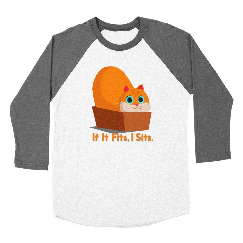 If it fits, i sits Men's Baseball Triblend T-Shirt by Hosico's Shop