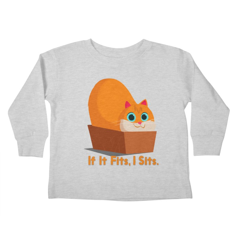 If it fits, i sits Kids Toddler Longsleeve T-Shirt by Hosico's Shop