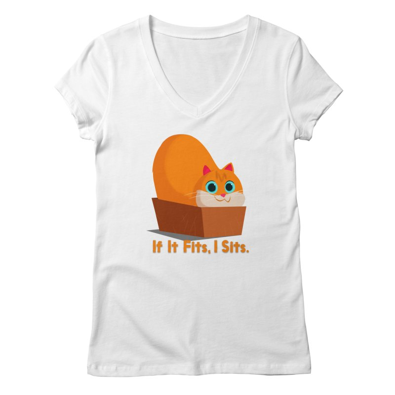 If it fits, i sits Women's Regular V-Neck by Hosico's Shop