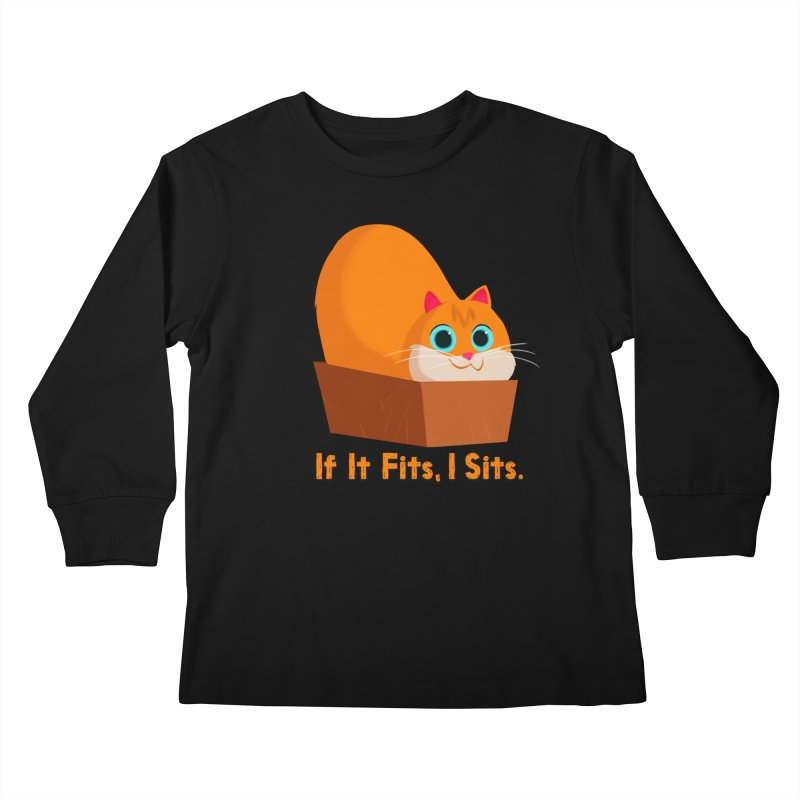 If it fits, i sits Kids Longsleeve T-Shirt by Hosico's Shop