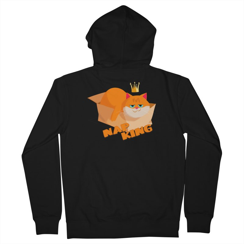 Nap King Men's French Terry Zip-Up Hoody by Hosico's Shop