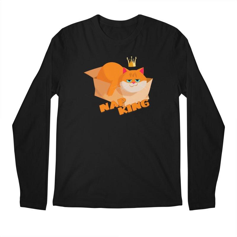 Nap King Men's Regular Longsleeve T-Shirt by Hosico's Shop