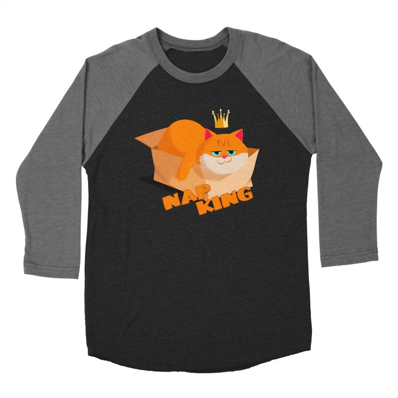 Nap King Men's Baseball Triblend T-Shirt by Hosico's Shop