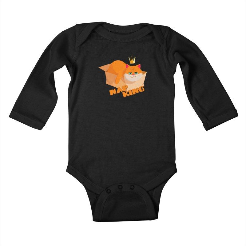Nap King Kids Baby Longsleeve Bodysuit by Hosico's Shop