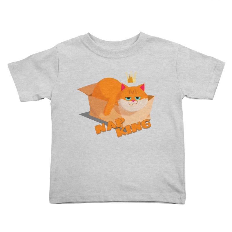 Nap King Kids Toddler T-Shirt by Hosico's Shop