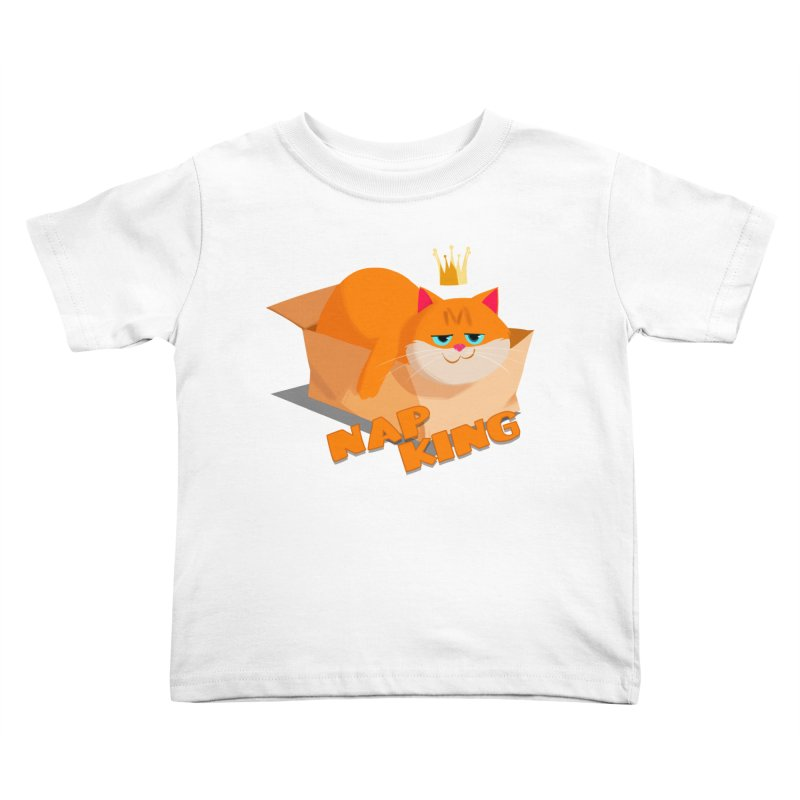 Nap King Kids Toddler T-Shirt by Hosico's Shop