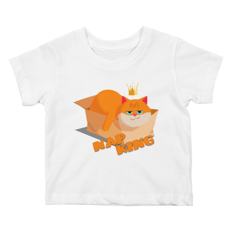 Nap King Kids Baby T-Shirt by Hosico's Shop