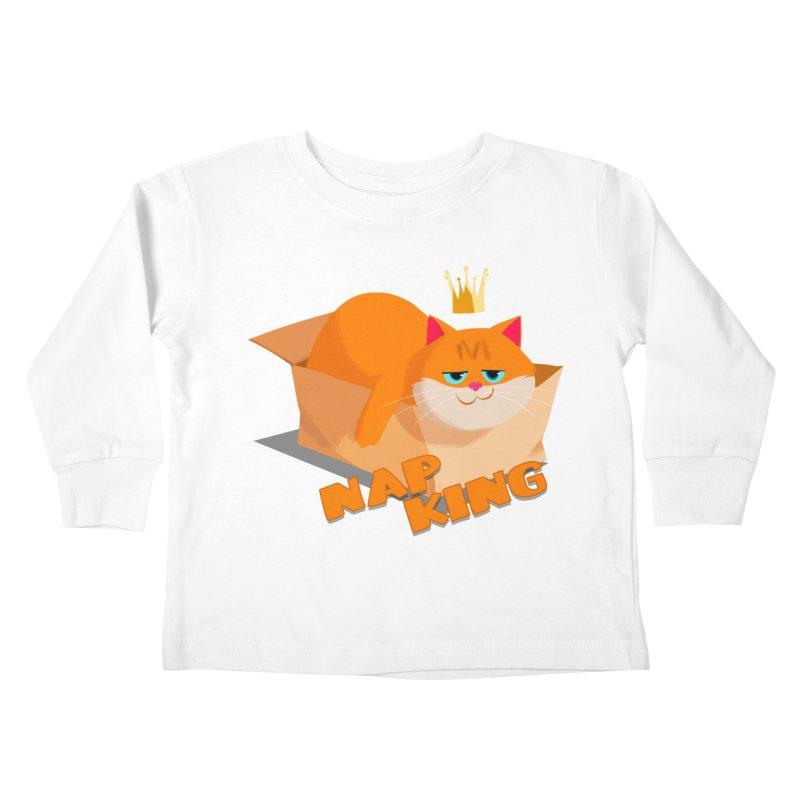 Nap King Kids Toddler Longsleeve T-Shirt by Hosico's Shop
