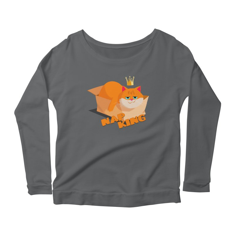 Nap King Women's Scoop Neck Longsleeve T-Shirt by Hosico's Shop
