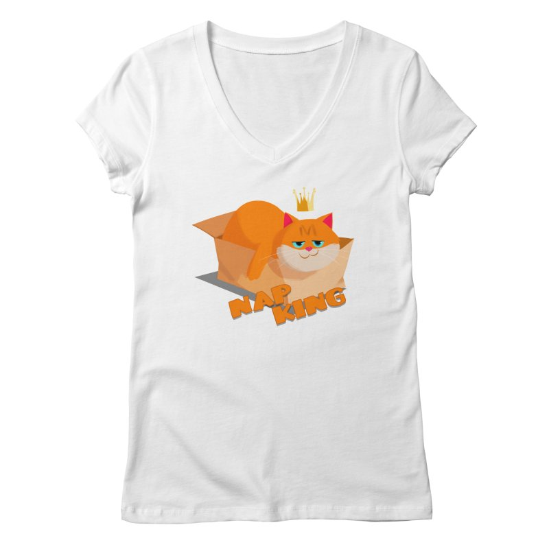 Nap King Women's Regular V-Neck by Hosico's Shop