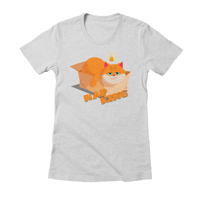 Nap King Women's Fitted T-Shirt by Hosico's Shop