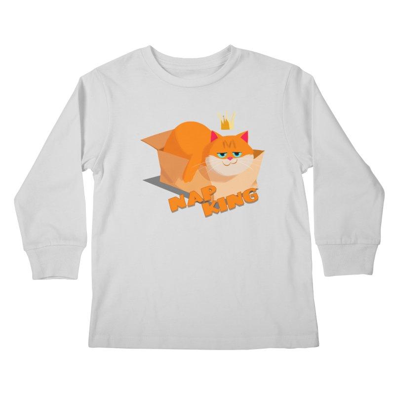 Nap King Kids Longsleeve T-Shirt by Hosico's Shop