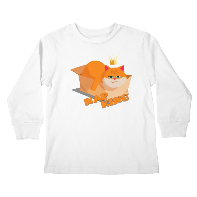 Nap King Kids Longsleeve T-Shirt by Hosico's Shop