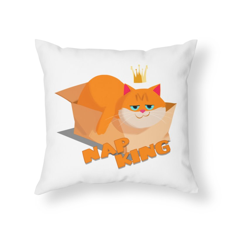 Nap King Home Throw Pillow by Hosico's Shop