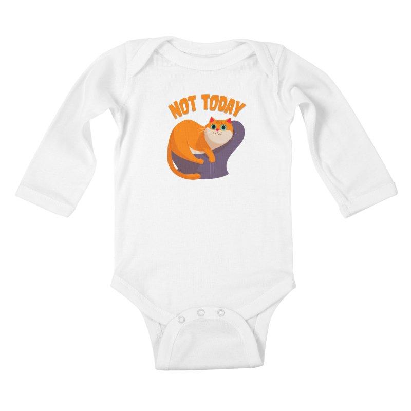Not Today Kids Baby Longsleeve Bodysuit by Hosico's Shop
