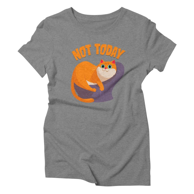 Not Today Women's Triblend T-Shirt by Hosico's Shop