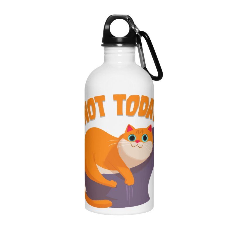 Not Today Accessories Water Bottle by Hosico's Shop