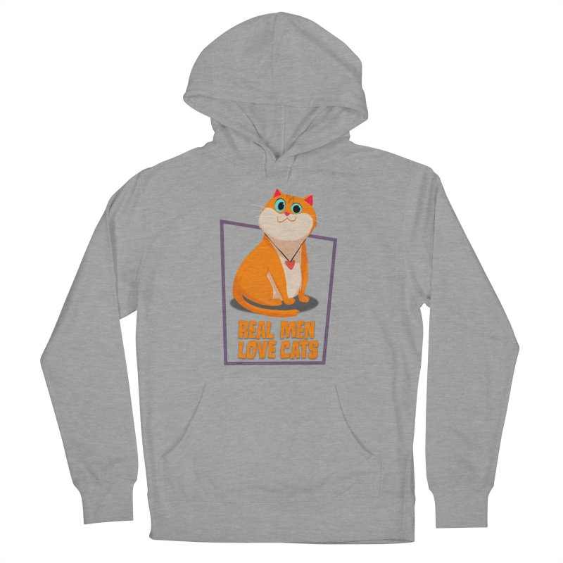 Real Men Love Cats Men's French Terry Pullover Hoody by Hosico's Shop