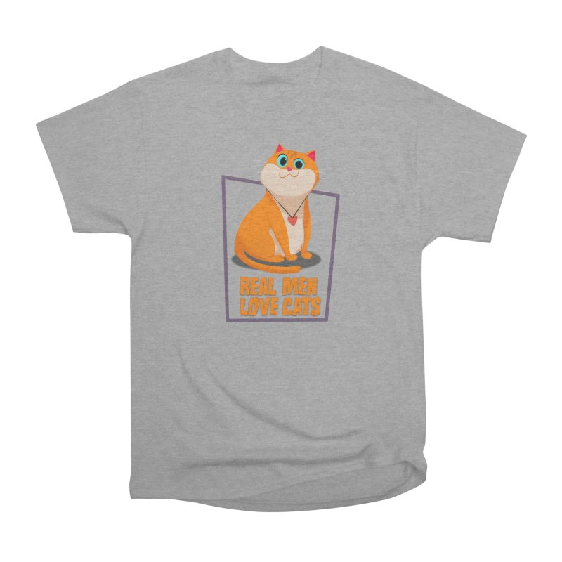 Real Men Love Cats Men's Classic T-Shirt by Hosico's Shop