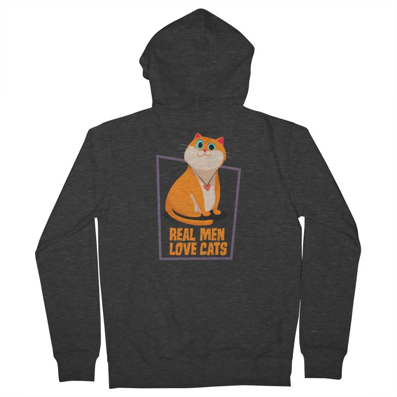 Real Men Love Cats Women's French Terry Zip-Up Hoody by Hosico's Shop