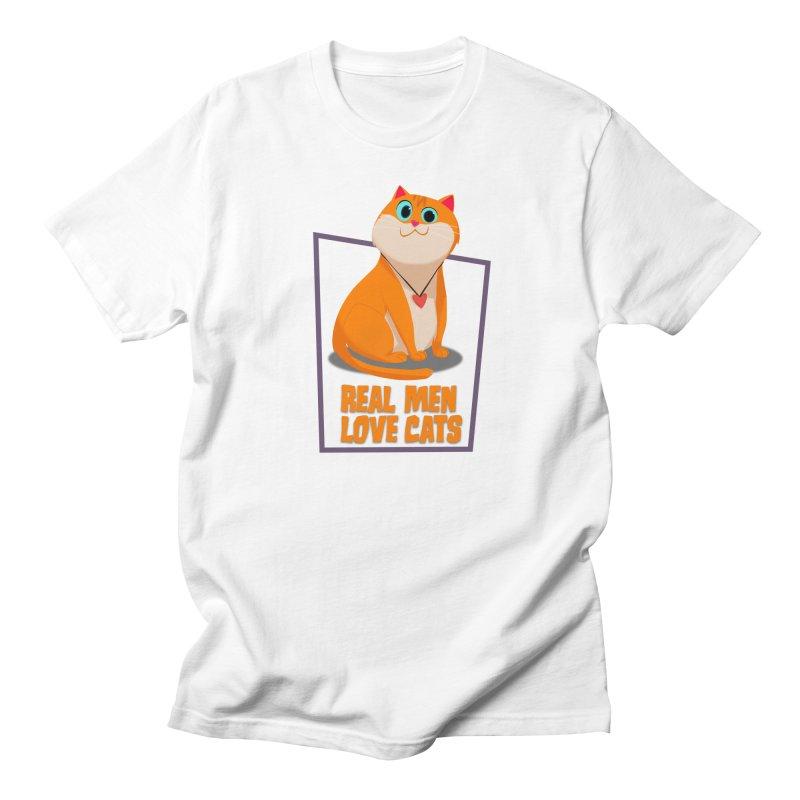 Real Men Love Cats Women's Unisex T-Shirt by Hosico's Shop