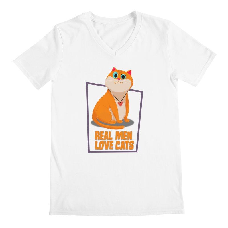 Real Men Love Cats Men's  by Hosico's Shop