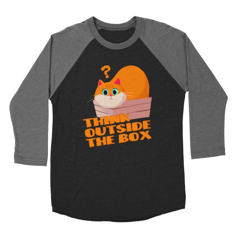 Think outside the Box? Men's Baseball Triblend Longsleeve T-Shirt by Hosico's Shop