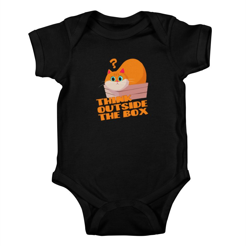 Think outside the Box? Kids Baby Bodysuit by Hosico's Shop