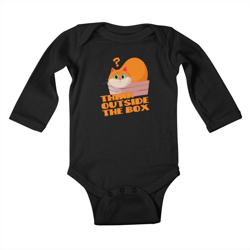 Think outside the Box? Kids Baby Longsleeve Bodysuit by Hosico's Shop
