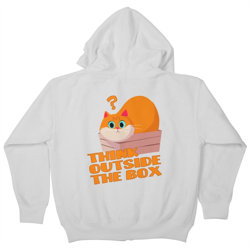 Think outside the Box? Kids Zip-Up Hoody by Hosico's Shop