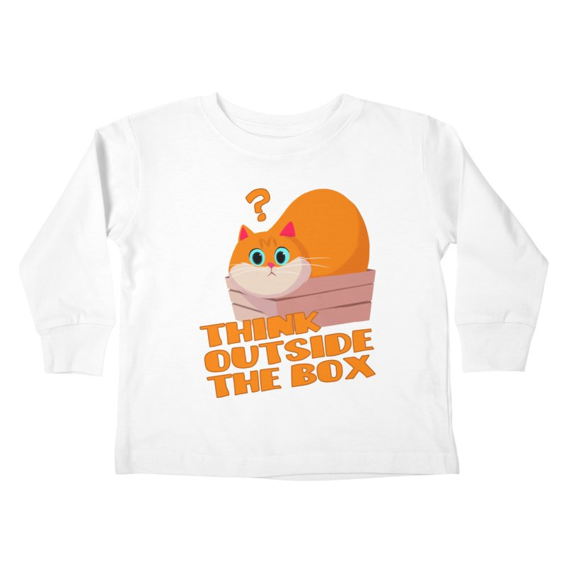Think outside the Box? Kids Toddler Longsleeve T-Shirt by Hosico's Shop