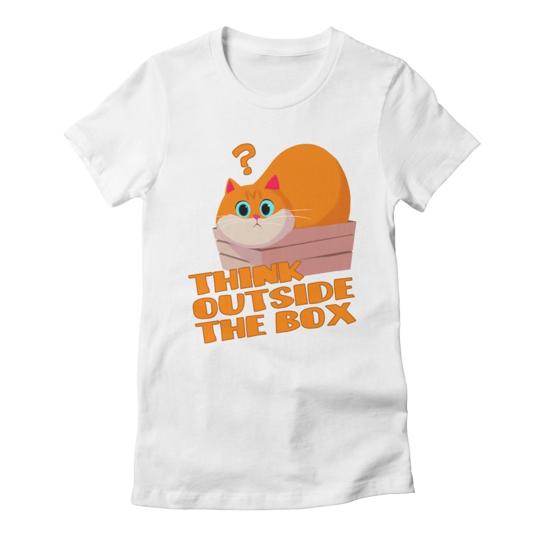 Think outside the Box? Women's Fitted T-Shirt by Hosico's Shop