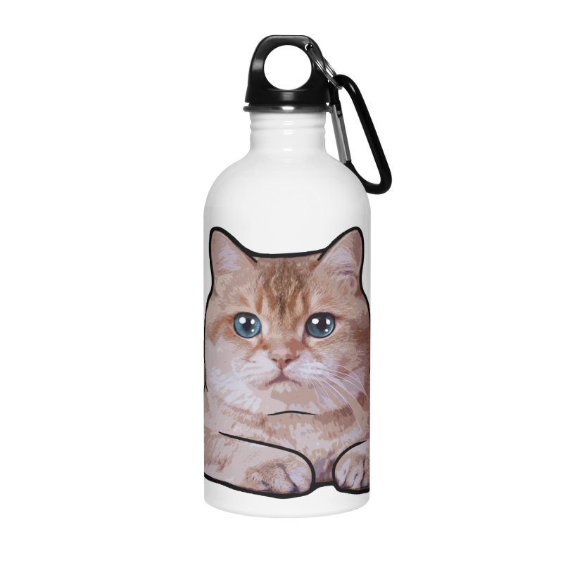 Hosico Cat Accessories Water Bottle by Hosico's Shop