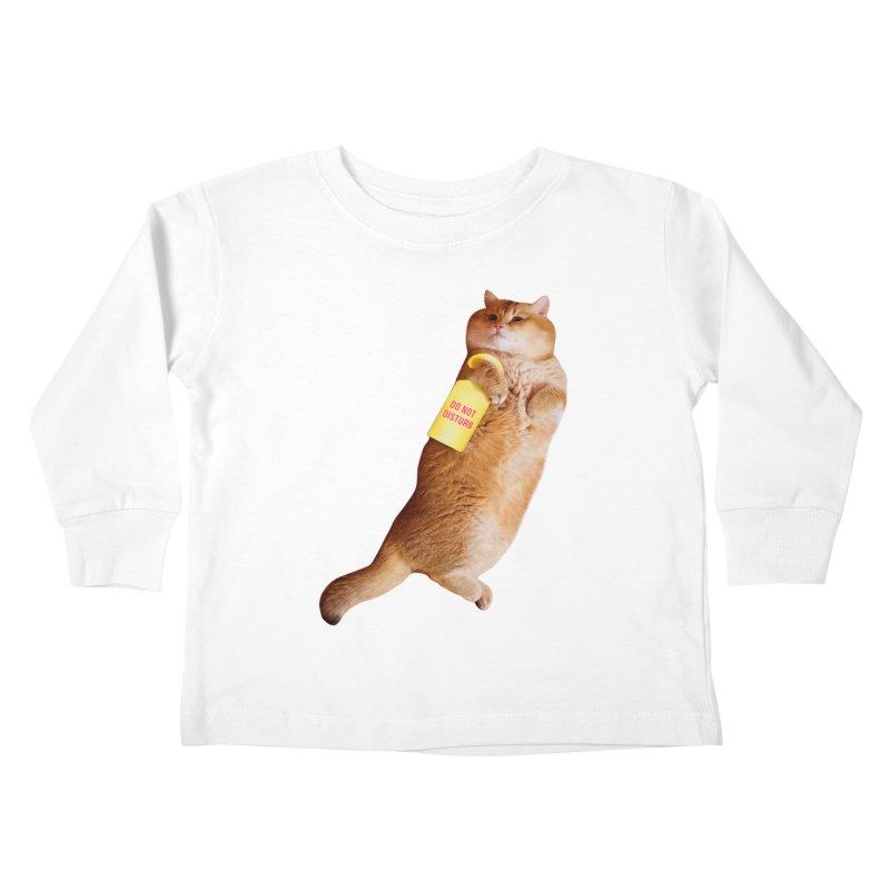Do not disturb Kids Toddler Longsleeve T-Shirt by Hosico's Shop