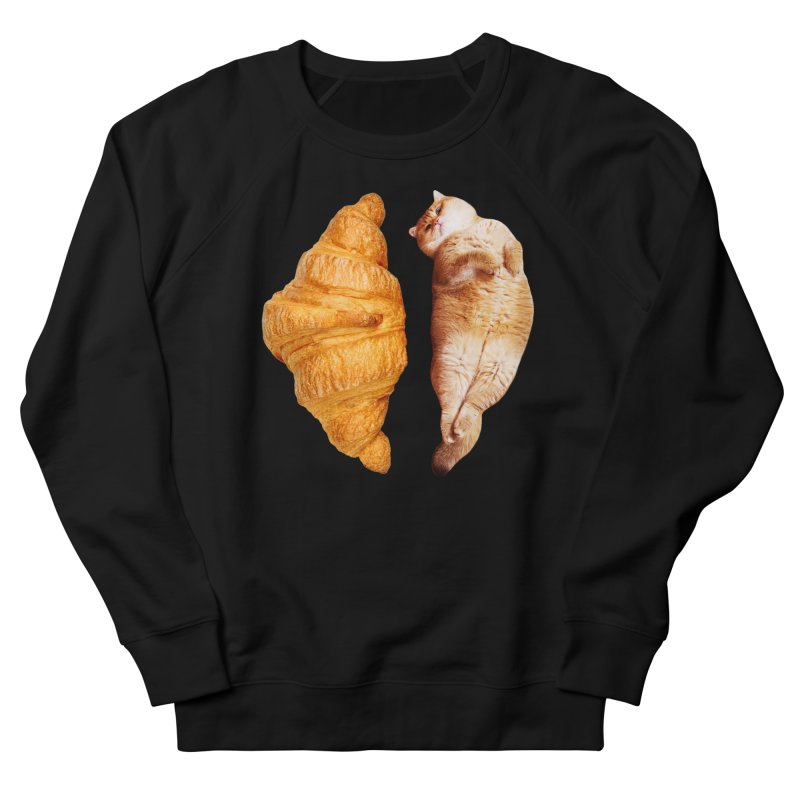 Croissant Men's French Terry Sweatshirt by Hosico's Shop
