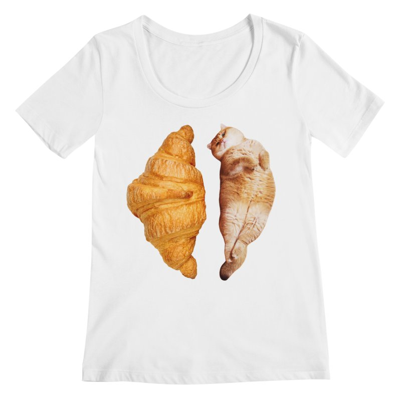 Croissant Women's Regular Scoop Neck by Hosico's Shop