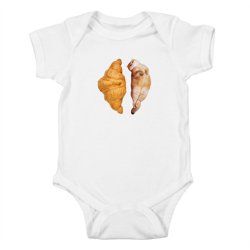 Croissant Kids Baby Bodysuit by Hosico's Shop
