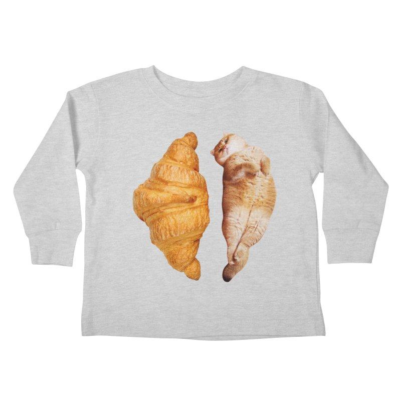 Croissant Kids Toddler Longsleeve T-Shirt by Hosico's Shop