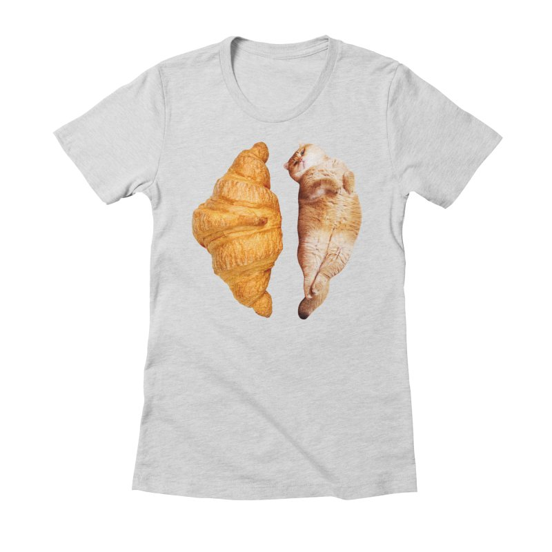Croissant Women's Fitted T-Shirt by Hosico's Shop