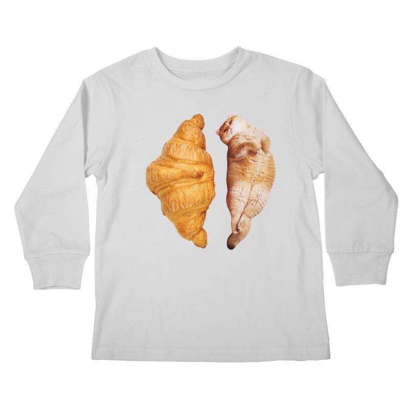 Croissant Kids Longsleeve T-Shirt by Hosico's Shop