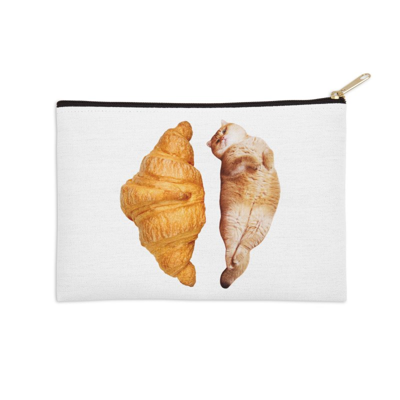 Croissant Accessories Zip Pouch by Hosico's Shop