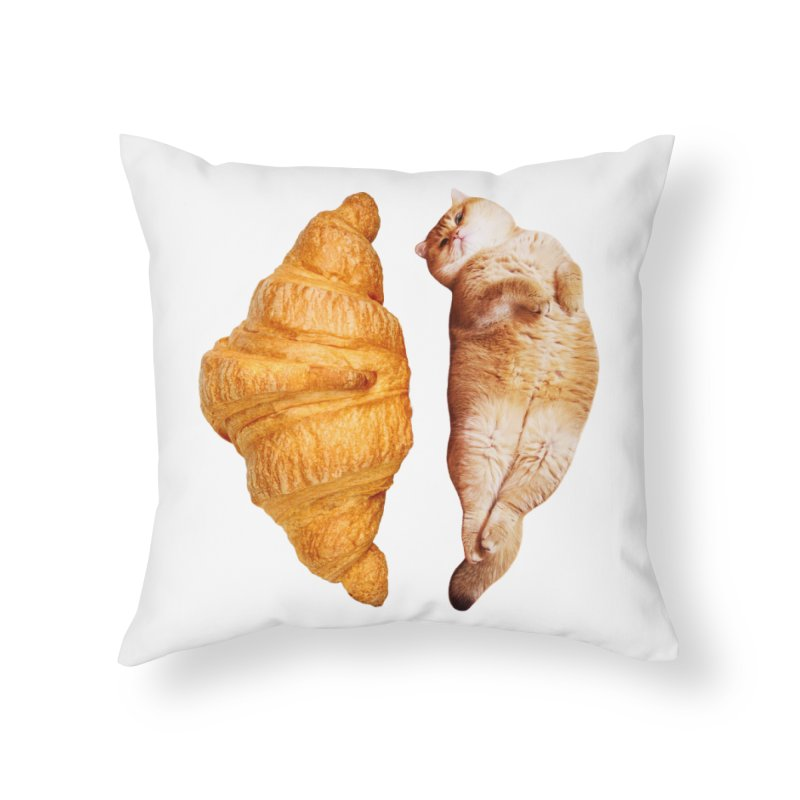 Croissant Home Throw Pillow by Hosico's Shop